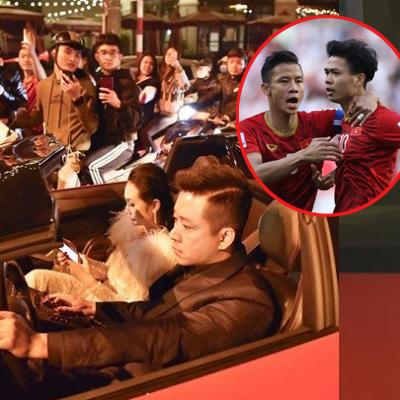 yan.vn - tin sao, ngôi sao - Tuấn Hưng lái siêu xe 16 tỉ 'đi bão' mừng ĐT Việt Nam vào tứ kết Asian Cup 2019