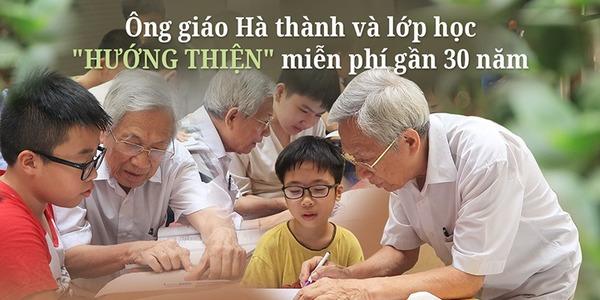 Thầy giáo Hà thành gần 30 năm dạy miễn phí cho học sinh nghèo