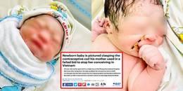 yan.vn - tin sao, ngôi sao - Em bé nắm vòng tránh thai của mẹ khi chào đời phủ sóng trên báo ngoại