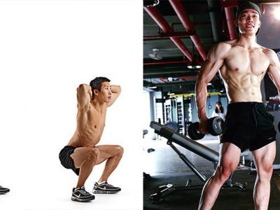 Lịch tập dành cho phần thân dưới 2 buối/tuần cho nam giới có body rắn chắc, cân đối